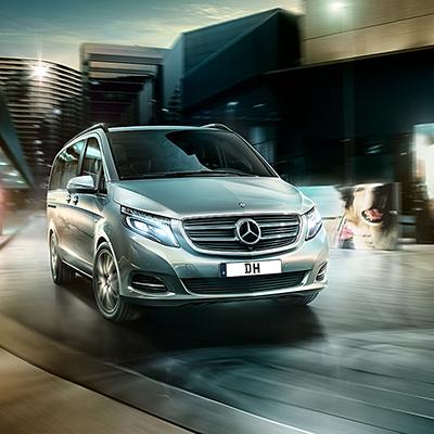 Mercedes-Benz v-class front exterior